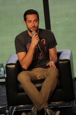 Zac Levi before introducing his Mystery Panel Guests at NerdHQ
